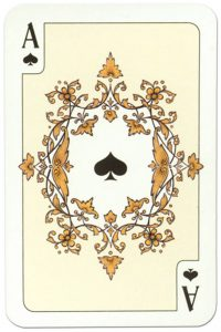 Ace of spades Russian traditional style playing cards