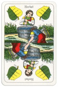 Ace of spades Wilhelm Tell cards from Austria