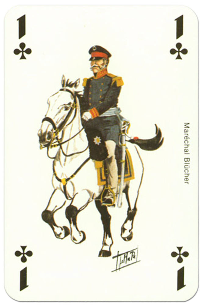 #PlayingCardsTop1000 – Cavalry Ace of clubs Waterloo battle playing cards