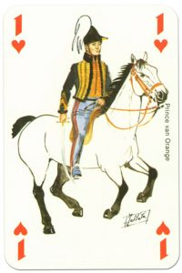 Cavalry Ace of hearts Waterloo battle playing cards
