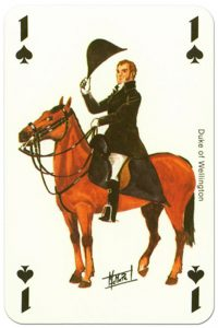 Cavalry Ace of spades Waterloo battle playing cards