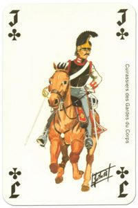 Cavalry Jack of clubs Waterloo battle playing cards