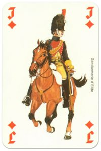 #PlayingCardsTop1000 – Cavalry Jack of diamonds Waterloo battle playing cards