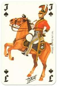 #PlayingCardsTop1000 – Cavalry Jack of spades Waterloo battle playing cards