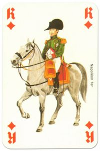 #PlayingCardsTop1000 – Cavalry King of diamonds Waterloo battle playing cards