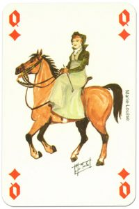 #PlayingCardsTop1000 – Cavalry Queen of diamonds Waterloo battle playing cards