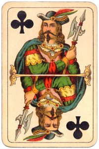 #PlayingCardsTop1000 – Jack of clubs Balkan whist cards published in Hungary