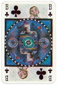 Jack of clubs Bernhard Resch playing cards Hilger Editions