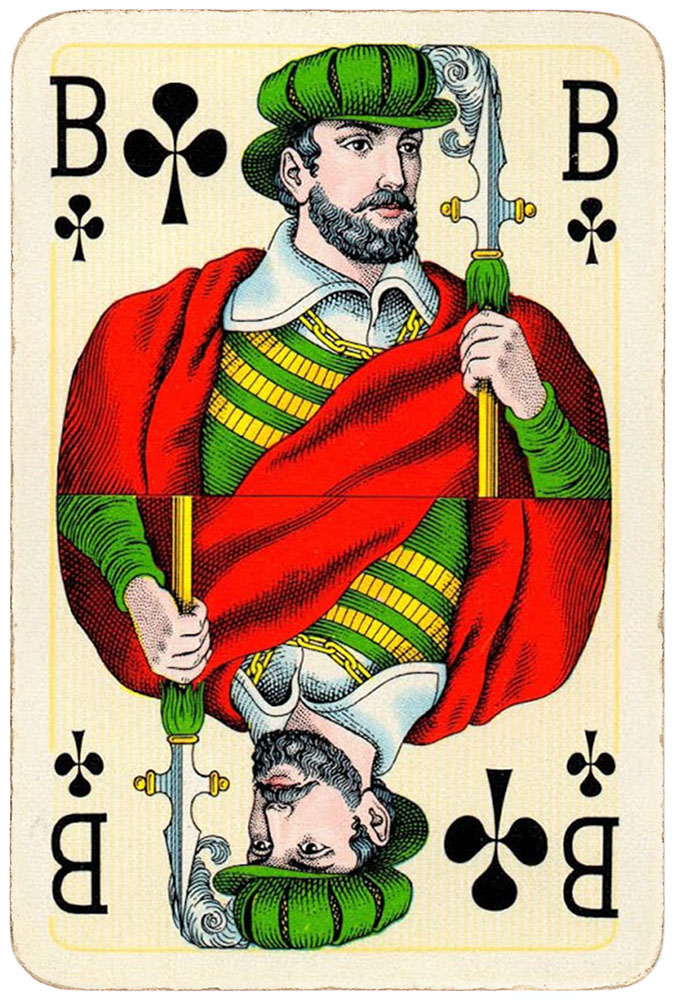 Jack of clubs Bridge Export classic playing cards by Handa