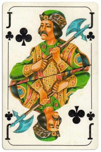 #PlayingCardsTop1000 – Jack of clubs Bulgarian Dunav bridge cards