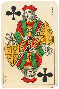 #PlayingCardsTop1000 – Jack of clubs Carte da gioco Genovesi