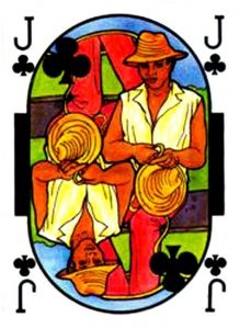 Jack of clubs Cartes de jeu Martinique par Martine Porry
