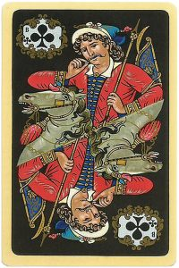 Jack of clubs Chernyi Paleh Russian style black cards