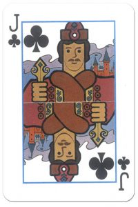 Jack of clubs Derzhava Russian patriotic playing cards
