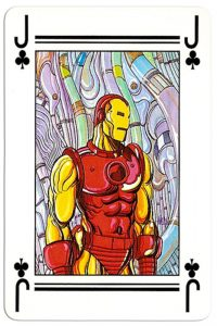 Jack of clubs Lo Scarabeo deck Marvel by artist Marco Nizzoli