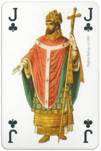 Jack of clubs Modiano deck Middle Ages