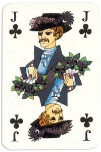Jack of clubs Patience Gracia by artist Hannelore Heise