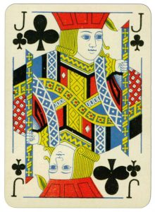 Jack of clubs Praha Poker cards from early XX c