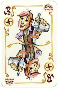 Jack of clubs Stewed and fried restaurant promotion cards