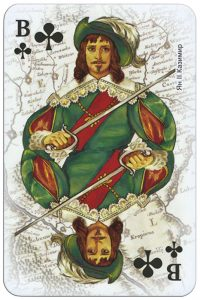 Jack of clubs Ukrainian historical figures deck