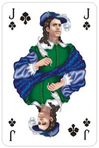 Jack of clubs Versailles fine cards from Sankt Petersbourg