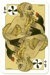 #PlayingCardsTop1000 – Jack of clubs dark power Russian fairy tale cards