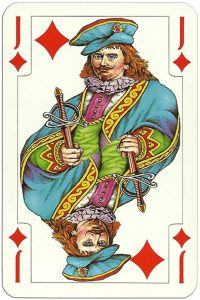 Jack of diamonds Jutrzenka playing cards Poland