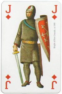 #PlayingCardsTop1000 – Jack of diamonds Modiano deck Middle Ages