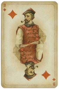 #PlayingCardsTop1000 – Jack of diamonds Russian historical cards