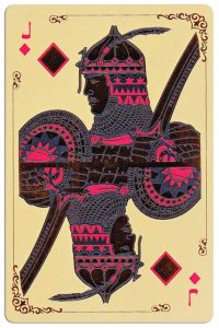 Jack of diamonds Silk Road cards from Kazakhstan