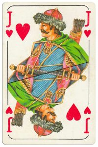 #PlayingCardsTop1000 – Jack of hearts Bulgarian Dunav bridge cards