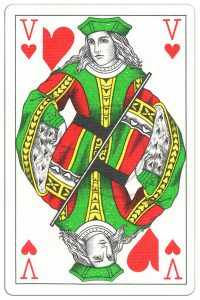 #PlayingCardsTop1000 – Jack of hearts Classic Belgian cards