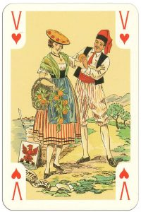 #PlayingCardsTop1000 – Jack of hearts Costumes des Provinces de France