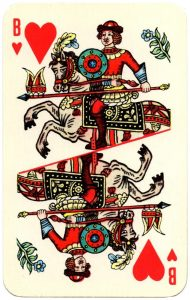 #PlayingCardsTop1000 – Jack of hearts Lubok Art cards