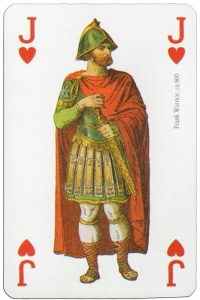 #PlayingCardsTop1000 – Jack of hearts Modiano deck Middle Ages