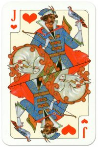 Jack of hearts Russian traditional style playing cards