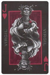 Jack of hearts card from Inferno by Gustave Dore deck Bycycle