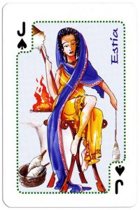 Jack of spades Olympus Gods Greek playing cards