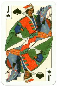#PlayingCardsTop1000 – Jack of spades Russian traditional style playing cards