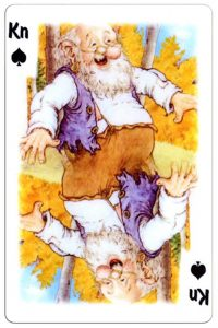 #PlayingCardsTop1000 – Jack of spades Trolls cartoons playing cards by Rolf Lidberg