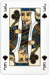 King of clubs Arab Special cards by Piatnik