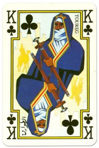 King of clubs Arab playing cards by Piatnik