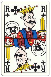 King of clubs Breese Auto Shop advertising cards