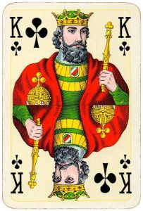 King of clubs Bridge Export classic playing cards by Handa