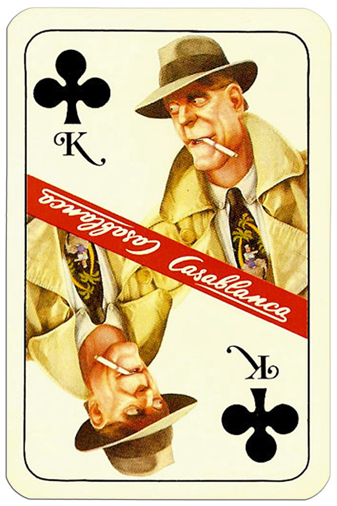 King of clubs Casablanca tobacco brand cards