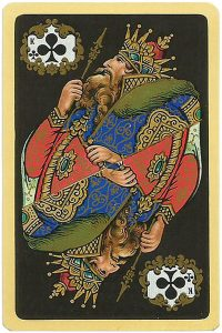 King of clubs Chernyi Paleh Russian style black cards