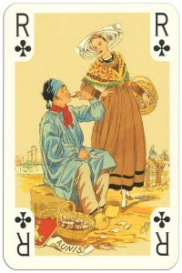 #PlayingCardsTop1000 – King of clubs Costumes des Provinces de France