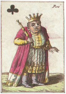 King of clubs Joseph Eder vintage playing card image