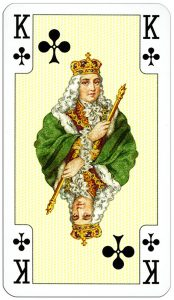King of clubs Lady Bridge cards