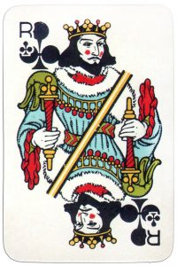 King of clubs Medieval playing cards deck